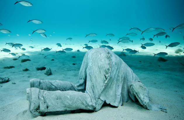 potopljene skulpture