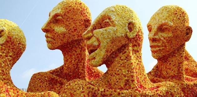 skulpture od cvijeća