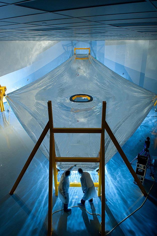 Testiranje membrane koja će teleskopu pružati zaštitu od Sunca
