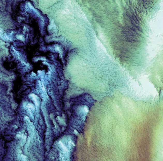 Oblaci iznad Beringovog mora