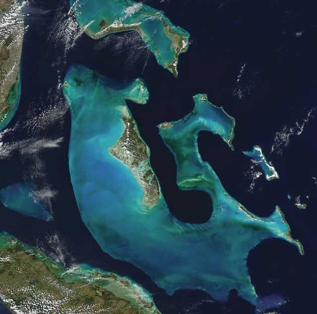 Veliki Bahama nasip, Atlantski okean