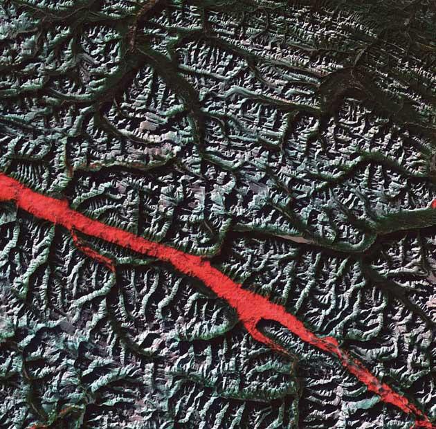 Rocky Mountain 'ožiljak', Kanada
