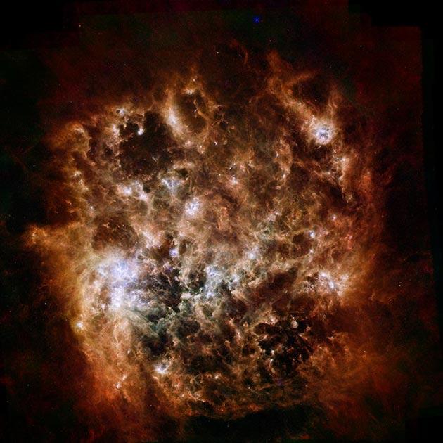 Veliki Magelanov oblak (jedna od satelitskih patuljastih galaksija Mliječnog puta, udaljena oko 163,000 svjetlosnih godina od Zemlje)