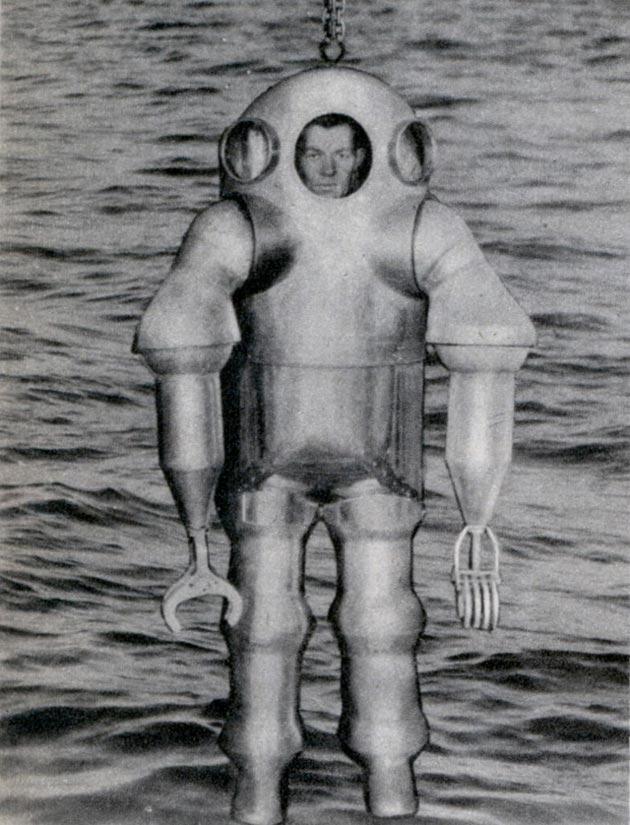Metalno odijelo koje je omogućavalo roniocu da zaroni na dubine od preko 300 metara, 1938