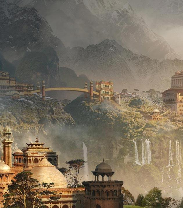 Umjetnički prikaz Shangri-la